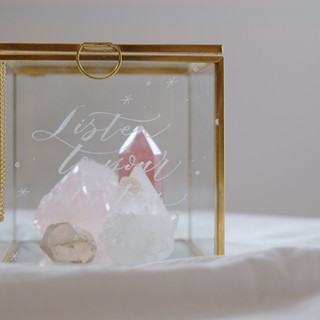 glass jewellery box with personalised engraving
