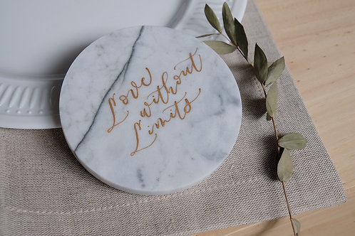 calligraphy marble coaster