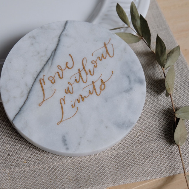 personalized marble coaster