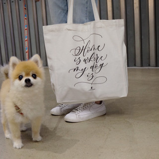 """""""Home is where my dog is"""" tote bag"""