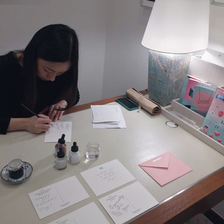 on-site calligraphy for Tiffany & Co