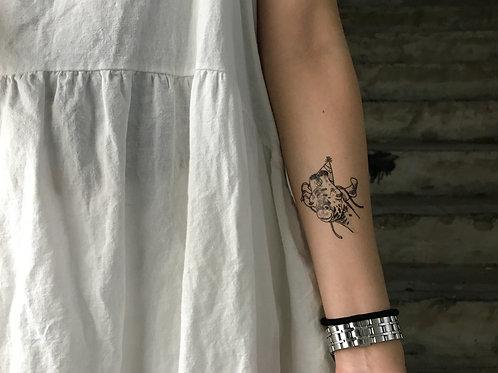 cottontatt party giraffe illustration temporary tattoo sticker