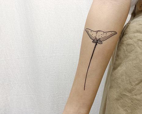 cottontatt stingray (top) illustration temporary tattoo sticker