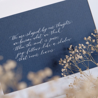 customised framed art quote