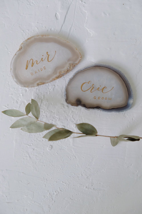 calligraphy agate place card
