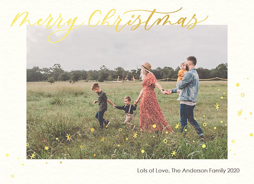 personalised digital photo christmas card - starry