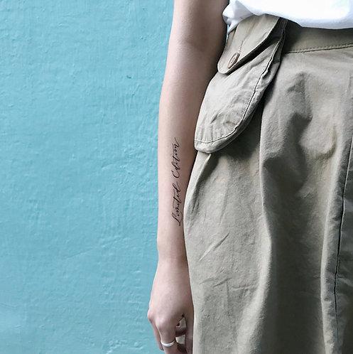"cottontatt ""Limited Edition"" calligraphy temporary tattoo sticker"