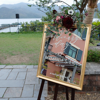 wedding mirror art