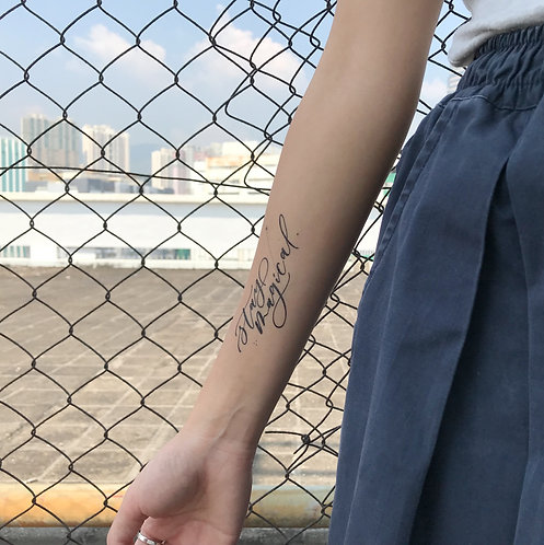 "cottontatt ""stay magical"" calligraphy temporary tattoo sticker"