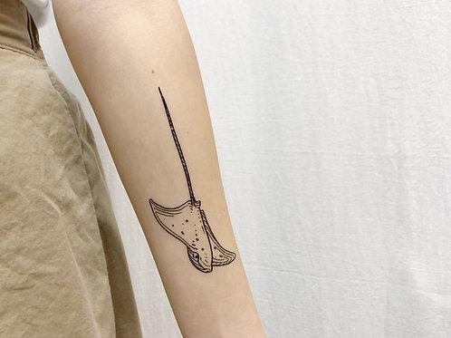 cottontatt stingray (side) illustration temporary tattoo sticker