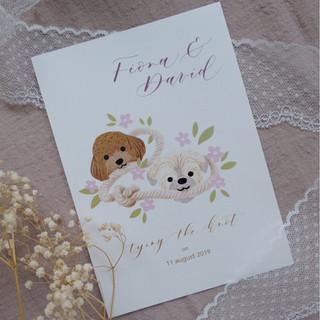 wedding invitation for Fiona & David