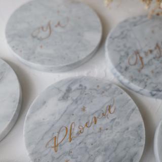 personalised marble coasters