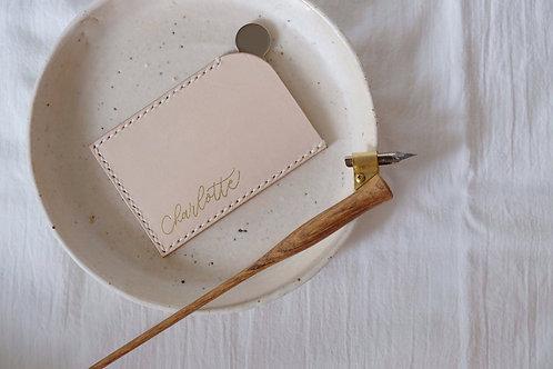 genuine leather | monoline foiling