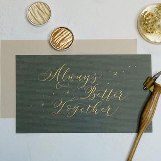 """Always Better Together"""
