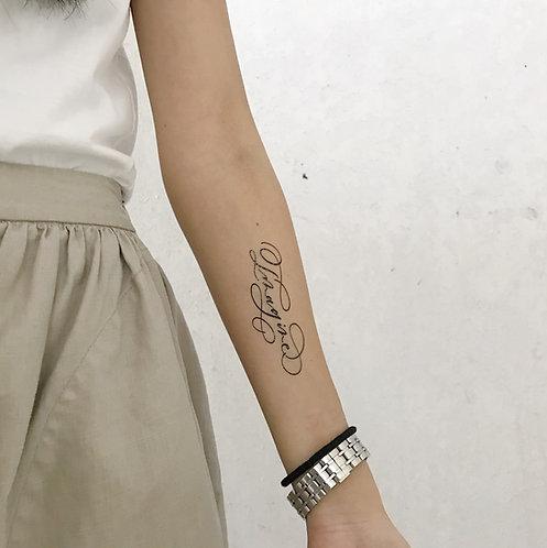 "cottontatt ""Imagine"" calligraphy temporary tattoo sticker"