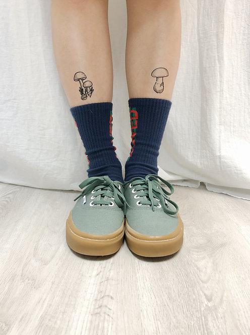 cottontatt mushrooms set illustration temporary tattoo sticker