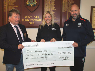Cancer Research Receives Cheque
