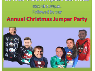 Christmas Jumper Party & Top of the Table Match