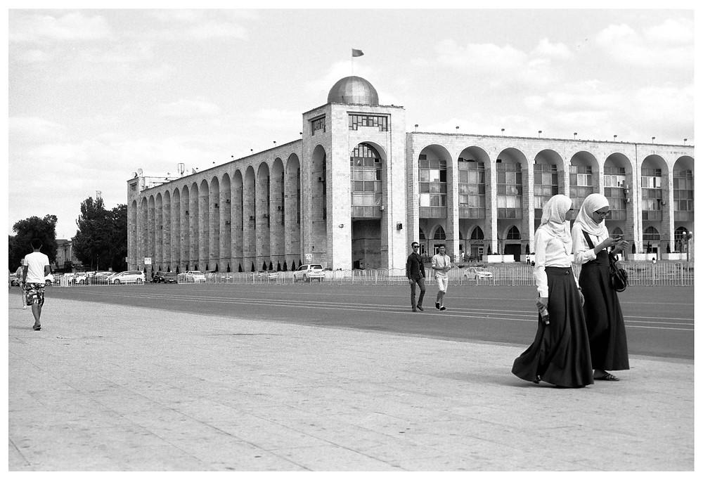 Afternoon walk in Bishkek