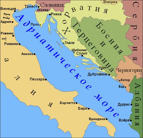 Острова Хорватии и паромная переправа