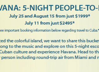 Cuba Vacation Packages!
