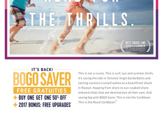 Royal Caribbean-Buy One Get One Offer Plus Free Gratuities and More!