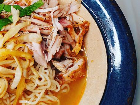 Chicken noodle soup inspired by Korean Dal Kalguksu