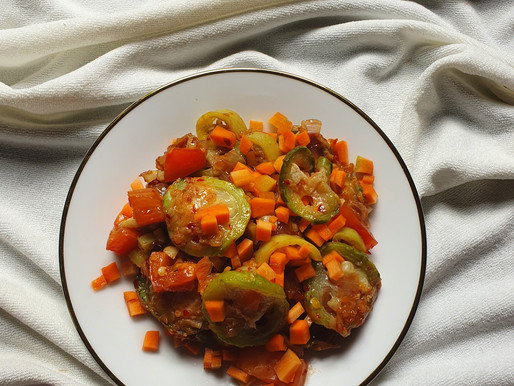 Ridge Gourd with Carrot   a unique combination