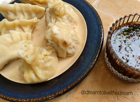 Chicken dumpling recipe with a secret ingredient.