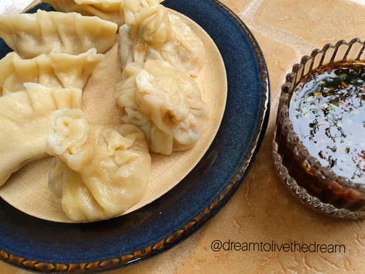 Chicken dumpling recipe with a secret ingredient.