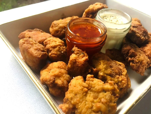 Chicken nuggets with panneer!