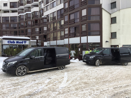 Service location de voiture avec chauffeur vous souhaite la Bienvenue au Club Med de Tignes