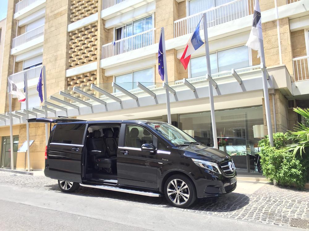 Transfert Hôtel de Nice ou Cannes Monaco pour l'aéroport de Nice , Cannes ou Marseille