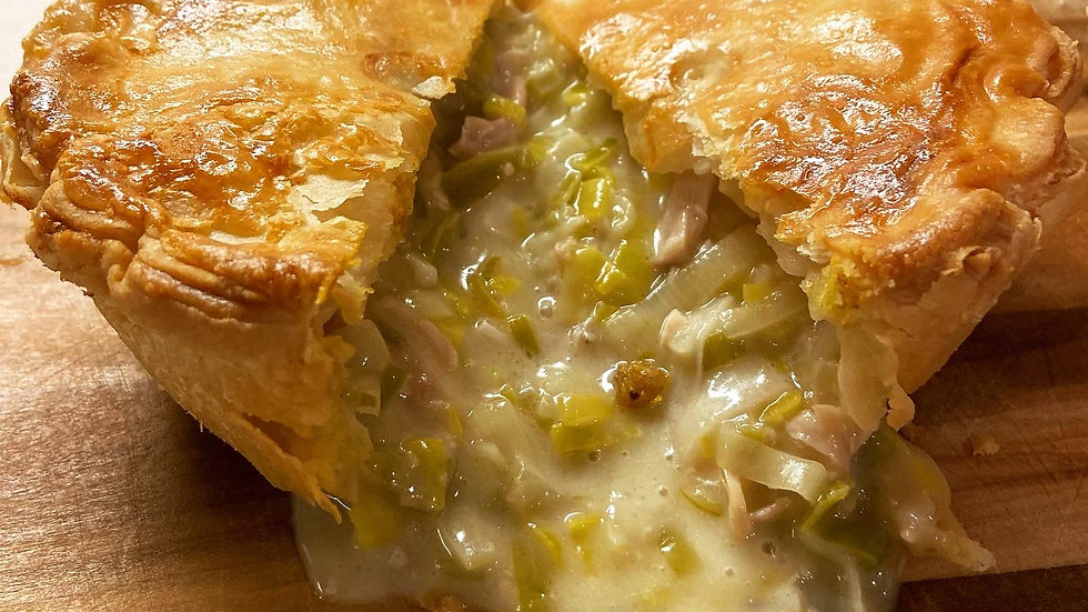 Individual Chicken and Leek Pie