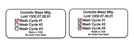 image of wash log for medical gowns