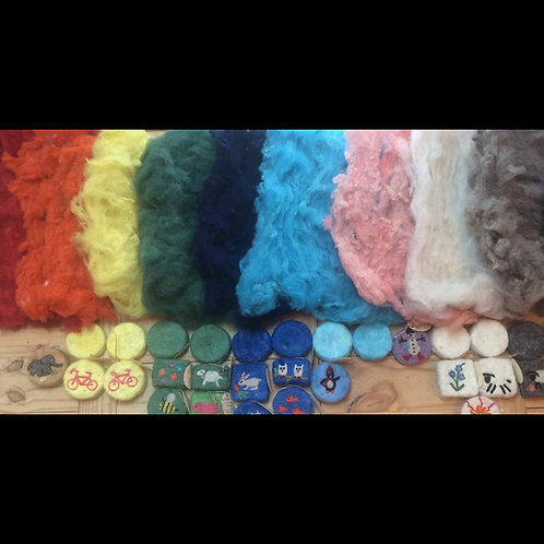 Hand-dyed wool