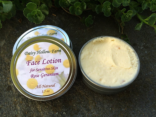 Face Lotion for Sensitive Skin - Rose Geranium