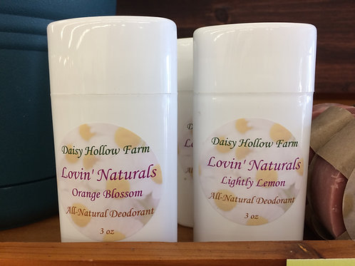 All-Natural Deodorant - 6 Varieties