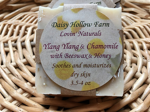 Ylang Ylang and Chamomile with Honey and Beeswax All-Natural Soap