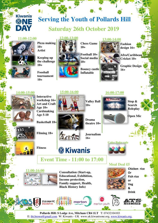 Kiwanis UK one day activities