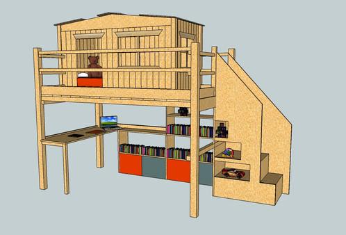 modele ivan l 39 enfantdo cr ation lit cabane et mobilier de chambre pour enfant. Black Bedroom Furniture Sets. Home Design Ideas