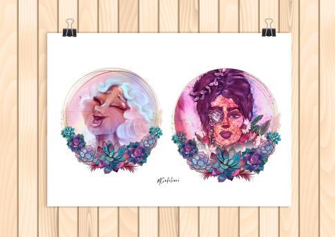 Diva Floral Stamps