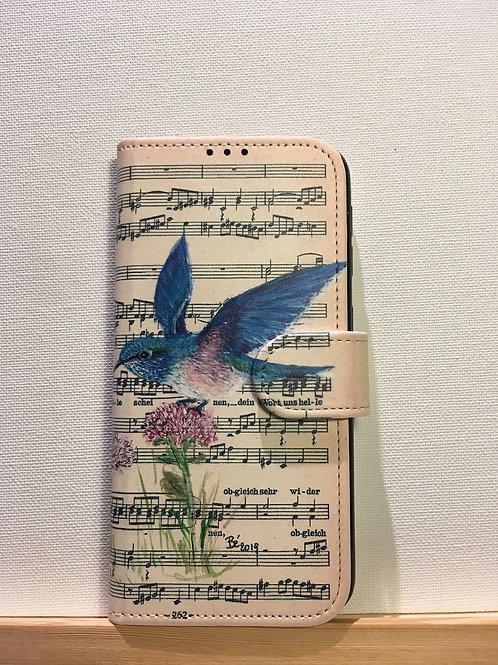 Samsung Galaxy A20E - boekhoesje - vliegende kolibrie