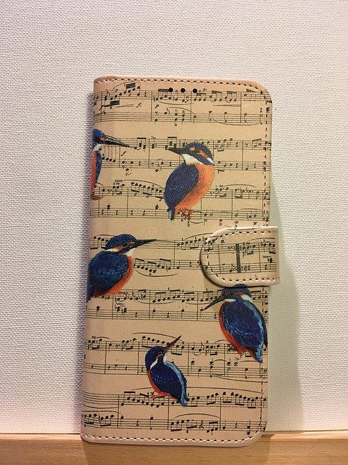 Boekhoesje diverse smartphonetypes - ijsvogels