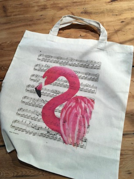 Shopperbag flamingo