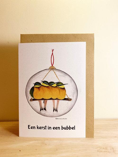 Wenskaart Kerstbubbel