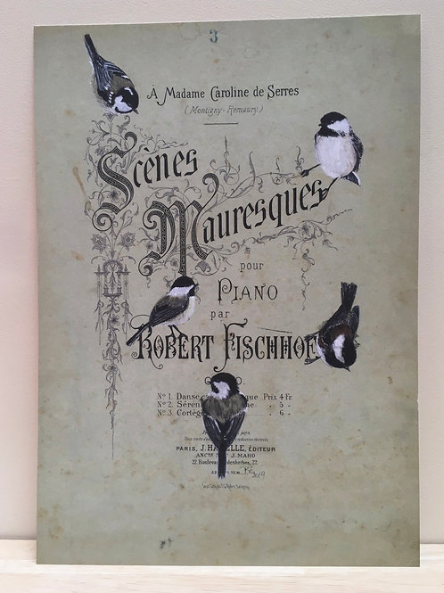 Meesjes op Scènes Mauresques - fine art print(A4)