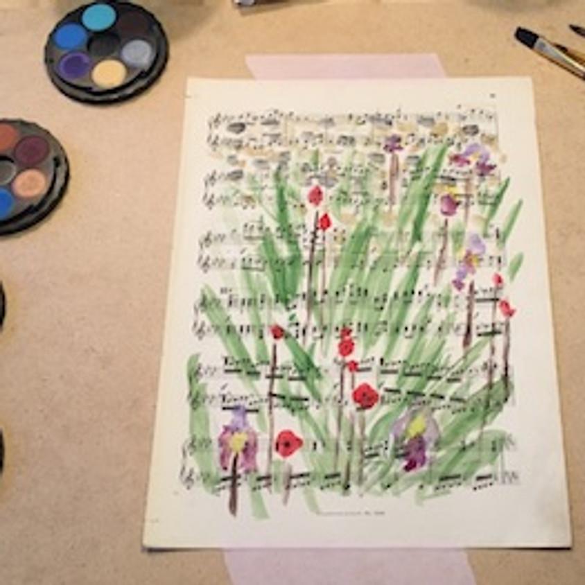 Bloemenboeket schilderen in aquarel