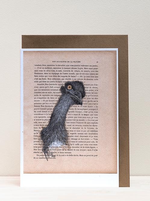 Wenskaart - emoe