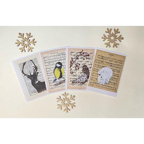 Kerstkaartenset - 4 kaarten